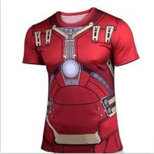 Marvel Super hero Avenger Batman Captain America T shirt Men Compression Armour Base Layer Thermal Under new Causal Tee shirt