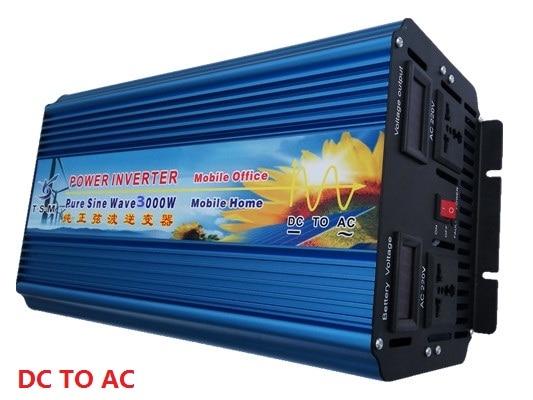 6000W Peak Power  3000W Inverter DC12V/24V/48V to AC220V Pure Sine Wave Inverter колодки резьбовые peak под v brake 70мм