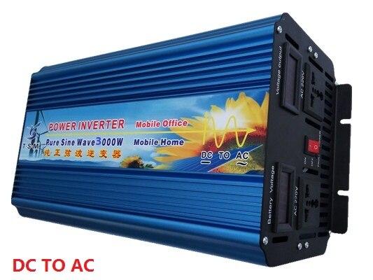 6000W Peak Power rated power 3000W Inverter DC12V/24V/48V to AC120V/220V dual digital display Pure Sine Wave Inverter 50 60hz 48v dc sine wave inverters 6000w