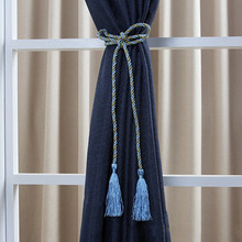 1 Pc Home Fancy Wrap Rope Window Lines Room Curtain Fringe Tassel Tieback(China)
