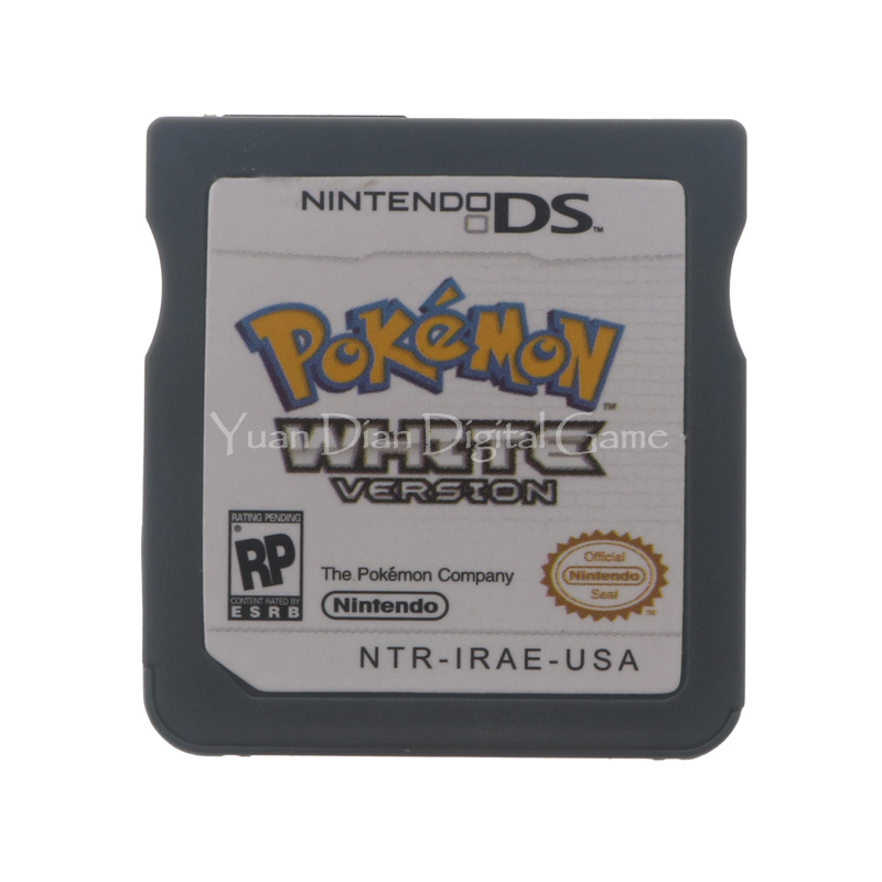 Nintendo NDS Video Game Cartridge Console Card Pokemon Series White USA English Language Version