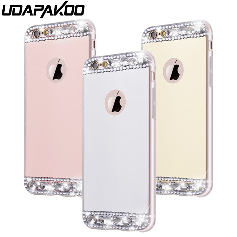for iPhone X XR XS Max case Diamond Mirror Case for iPhone 4 5 5s SE 6 Luxury shiny Crystal Cover for Apple iphone 6s 6 7 8 Plus