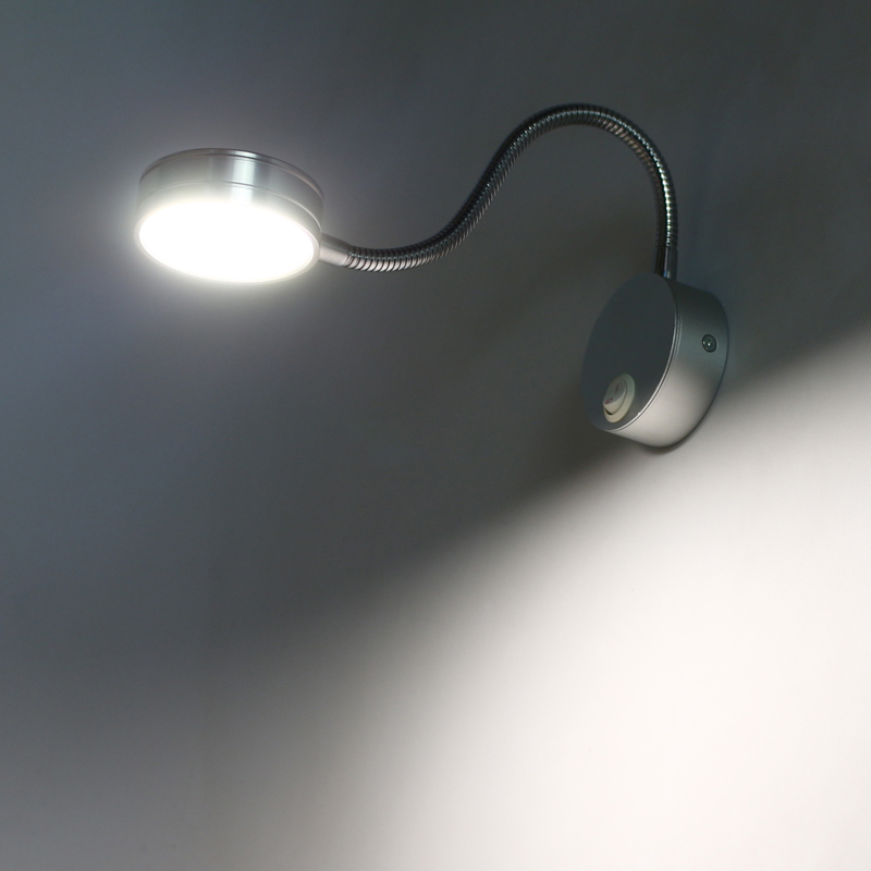 ФОТО Eye LED lamp light adjustable simple wall lamp to warm the bedroom bedside lamps with reading lamp switch