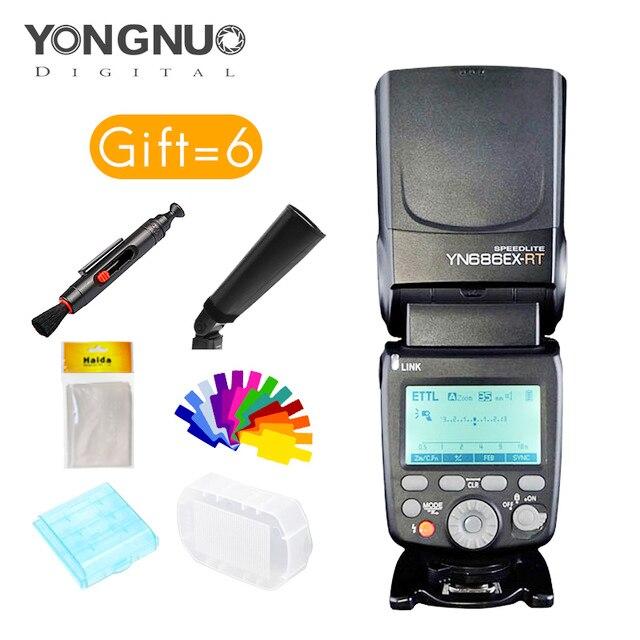 yongnuo YN686EX RT Lithium Speedlite Wireless 1 8000s TTL M MULTI flash YN686 With Lithium Battery