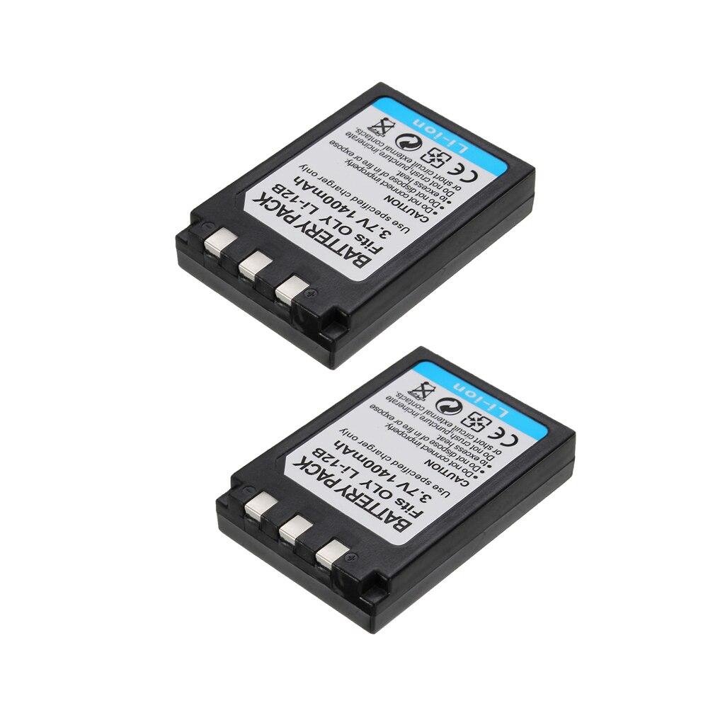 2Pcs/lot 1400mAh Li-12B Li-10B LI 12B 10B Camera Battery For OLYMPUS u300 u400 u410 C760 C765 C70 C7000 C770 u500 u600 u810 u800