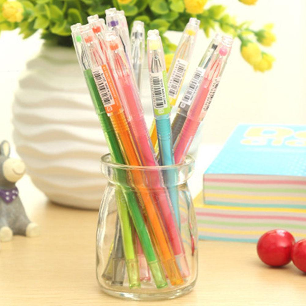 Cobee 12Pcs/Box Rollerball Pen Gel Ink Pen School Children Writing Creative Supplies Children gifts