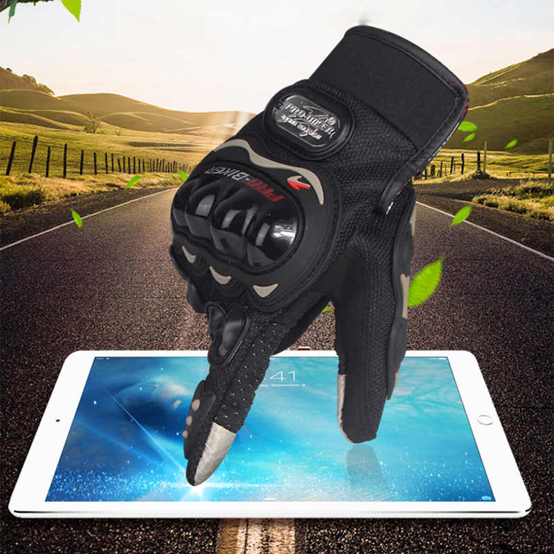 PRO-BIKER Full Finger Motorcycle Gloves Racing Motorbike Touch Screen Gloves Outsports Racing Riding Offroad ATV Protect Gloves