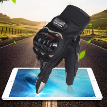 PRO-BIKER Full Finger Motorcycle Gloves Racing Motorbike Touch Screen Gloves Outsports Racing Riding Offroad ATV Protect Gloves(China)