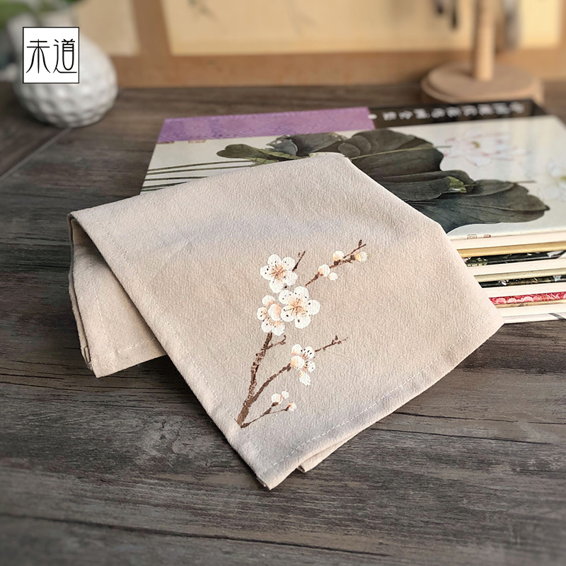 Fashion Handkerchief Female Cotton Ancient Style Handcuffs Stories Retro Gift Sweat-absorbent Small Pocket Square Cotton