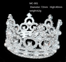 girls small full round rhinestone tiara bride Princess Crown children's gifts wedding accessories MC-001