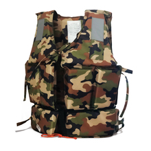 Professional Child/Adult Buoyancy Life Vest Swimming Boating Safety Ski Surf Survival Aid Adult Jacket Green Camouflage F