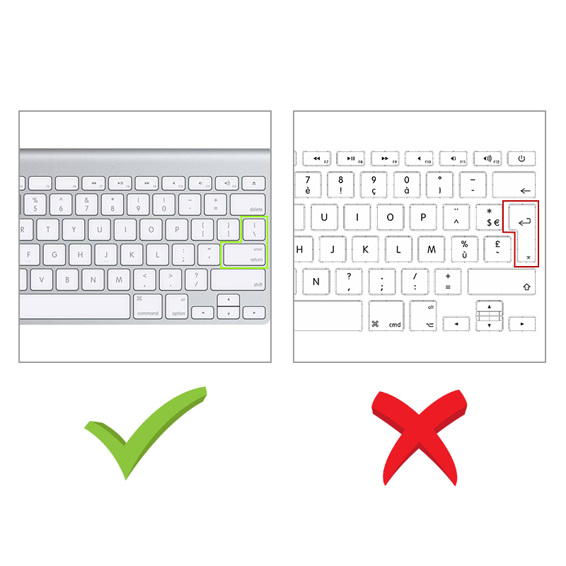 Image 2 - Russian English Keyboard Cover For Apple Macbook Pro Air 13 15 Soft TPU Waterproof keyboard stickers for Macbook EU US 13 15-in Keyboard Covers from Computer & Office