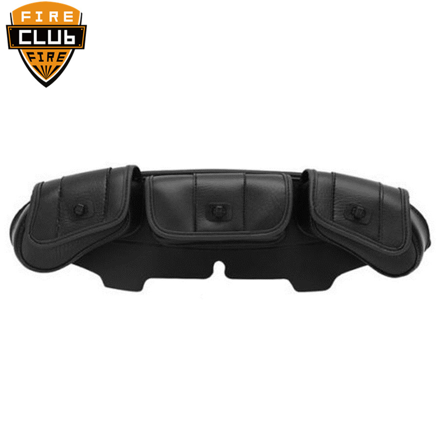 Motorcycle accessories Windshield Bag Saddle 3 Pouch Pocket Fairing For Harley 1996 2013 Touring Black