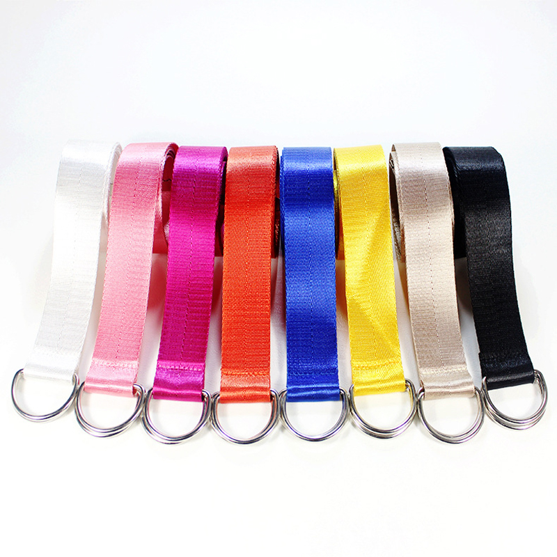 Double Solid Nylon Canvas   Belt   Braided Thai D Ring Buckle Student   Belt   Candy Color Fashion Unisex Neutral 130cm Casual