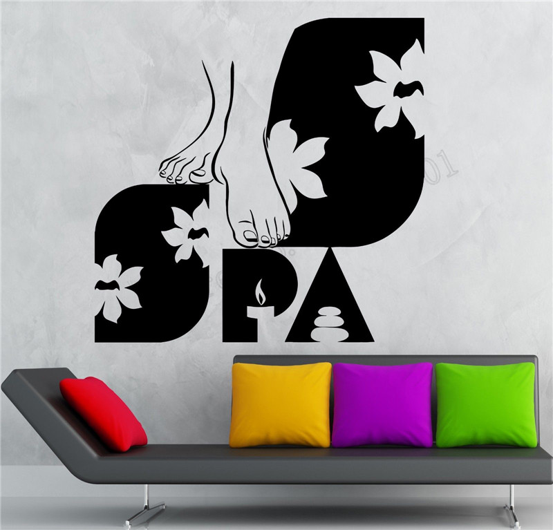 2622fae3c96 Spa Body Message Wall Decoration Vinyl Art Removeable Room Sticker Beauty  Salon Decals Fashion Lifestyle Mural Poster LY952