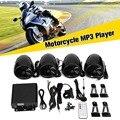 Mofaner 12V LCD Motorbike ATV Audio Bluetooth 4 Speakers+Amplifier Handlebar System For Motorbike ATV 1000W