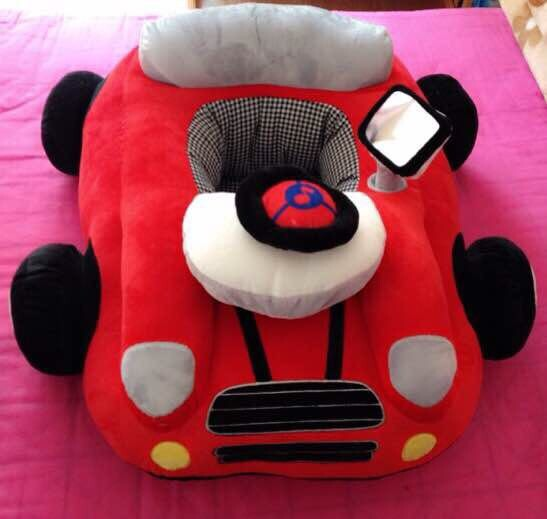 New Red Plush Car Toys Baby Seat Cartoon Sofa Baby Toddler Indoor Bedding Car Play Toy new arrival large about 55cm cartoon animal design plush seat cushion tatami plush toy sofa floor seat w5291