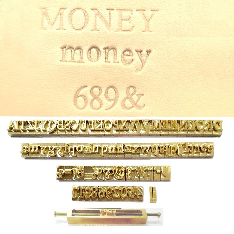 Custom Alphabet Letter Number Sings Symbols Stamps Mold Embossed Dies Foil Hot Stamping Diy Leather Wood
