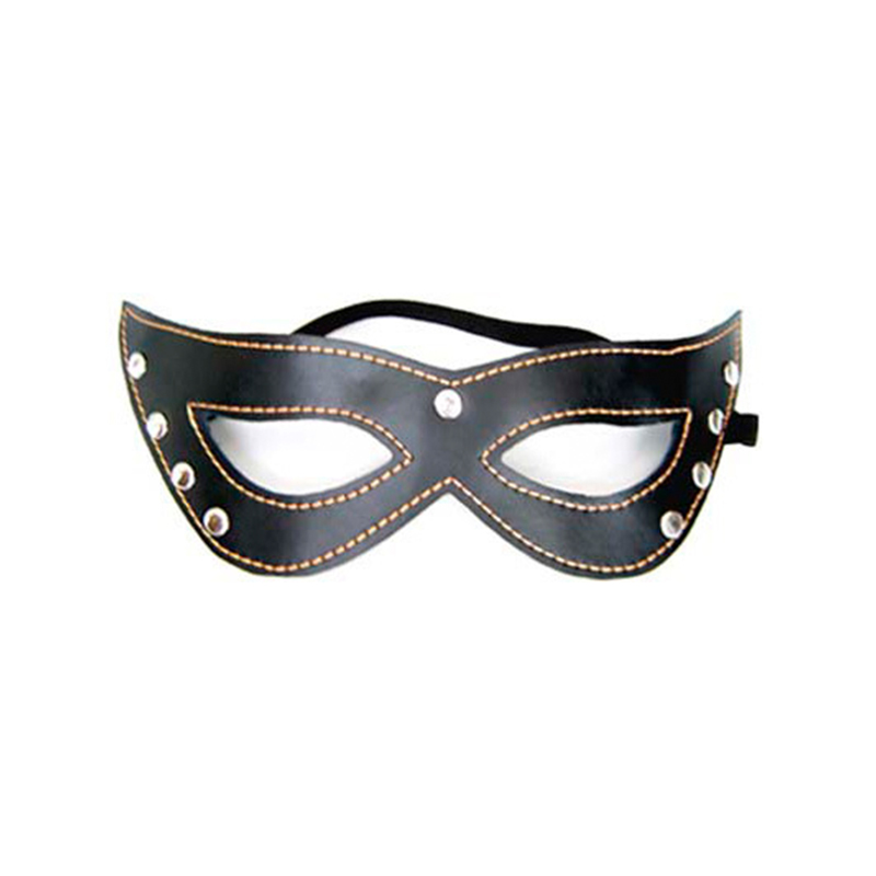 PU Leather Rivet Sex Eye Mask Adult Cosplay Game SM Bondage Flirting Role Play Erotic Toys For Women Men Couples Sexy Products