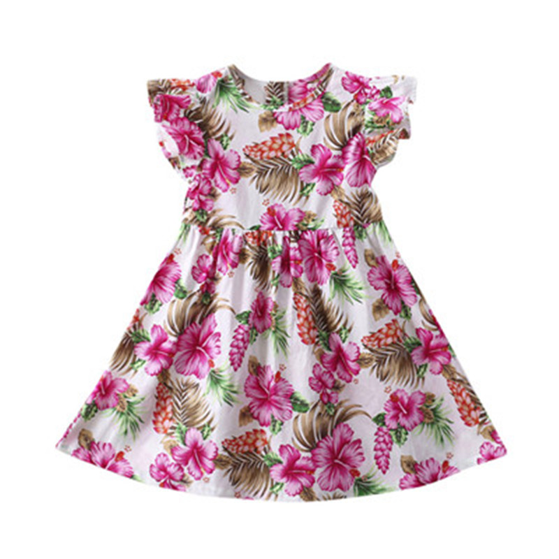 NEW 0-3 Years Summer Romantic Baby Girls Kids Infant Toddle Floral Rabbit Sleeveless Clothes Princess Dress NO# dropship