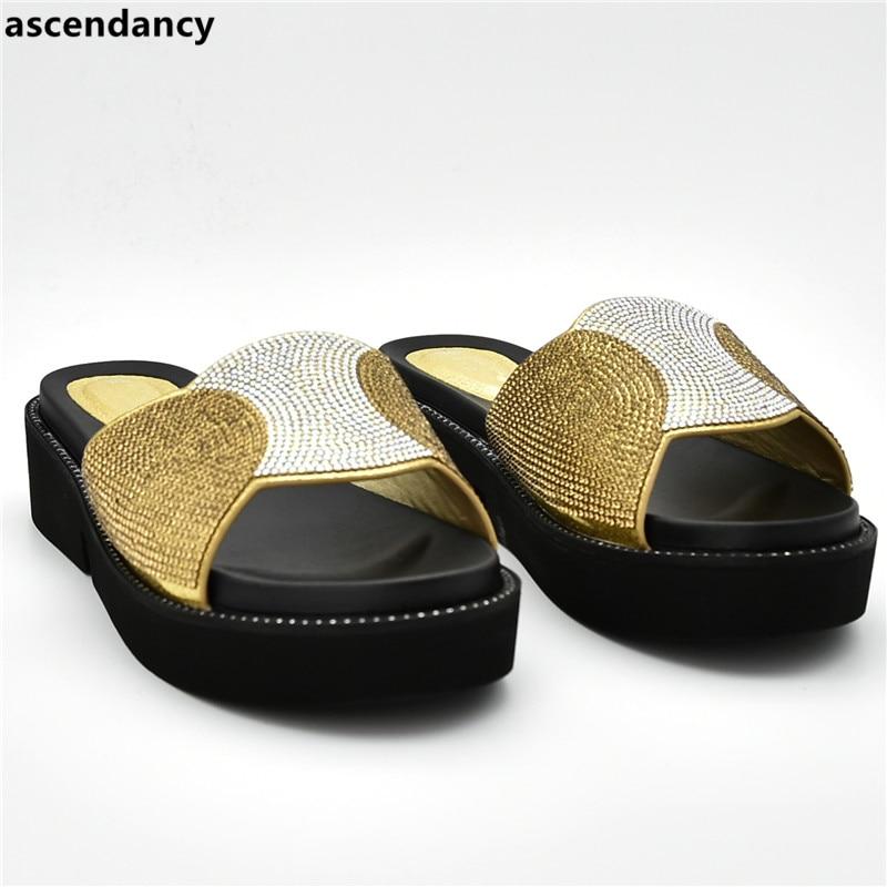 Nouvelle Parti Femmes De yellow Dames Strass Green Talons Sandales or Avec Pompes Décoré black Arrivée Chaussures Luxe Slingbacks qwqCrFf
