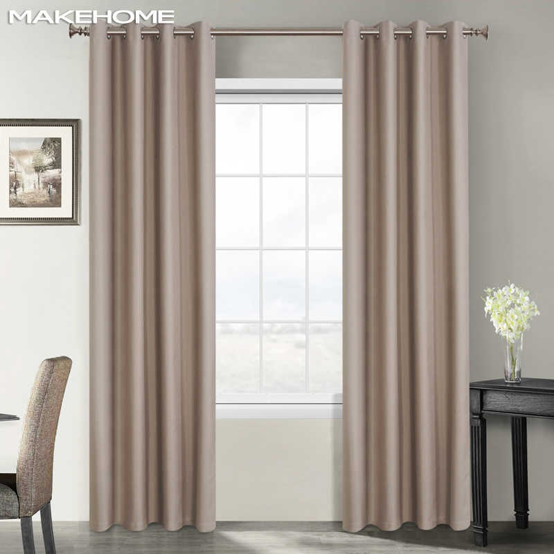 Darkening Solid Blackout Curtains Soundproof Treatment Blinds Finished Drapes Window Modern Curtains for Bedroom Living Room