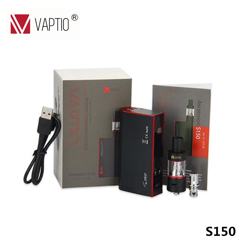 цены Vaptio S150 Vape kit Electronic Cigarette 150w KIT VW/VT-Ni/Ti/SS/ATC temperature control vape 0.91'' OLED Screen ATC II Coil