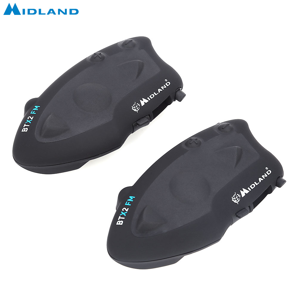 MIDLAND paire BTX2 FM moto Interphone casque Bluetooth casque 800 M multi-utilisateur Interphone connecter au plus 4 coureurs