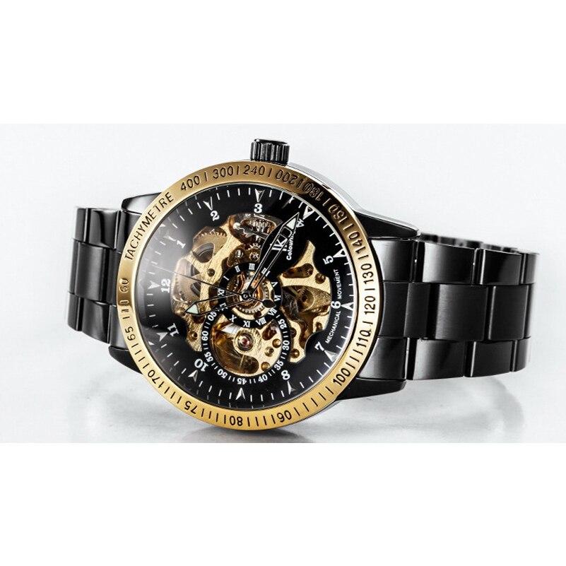 Luxury Fashion Mechanical Skeleton Male Waterproof Men Watch Brand Stainless Steel Strap Casual Wristwatch Relogio Masculine
