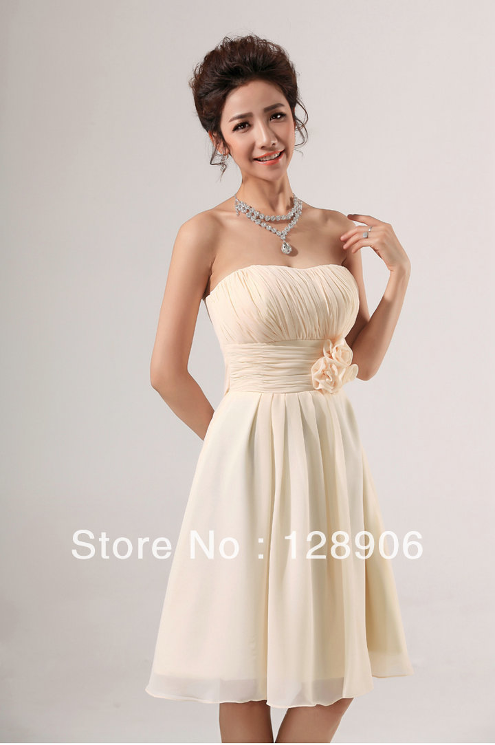 Ivory colored bridesmaids dresses