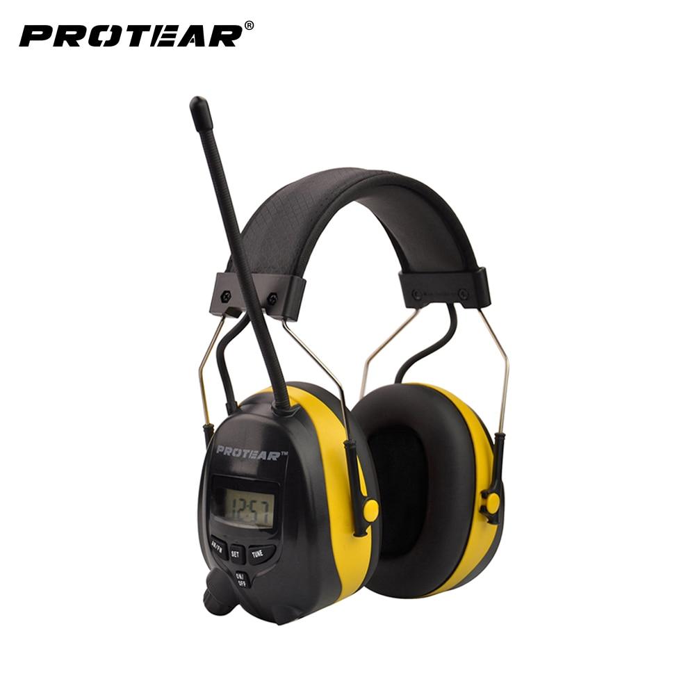 Protear NRR 25dB Hearing Protector AM FM Radio Earmuffs