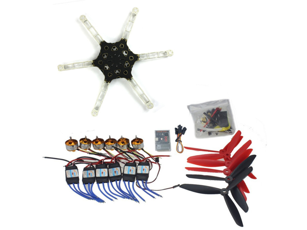 F11798-D DIY FPV Multi-copter Drone QQ SUPER Multi-rotor Flight Control Alien Across Carbon Fiber RC Hexcopter Motor ESC drone with camera rc plane qav 250 carbon frame f3 flight controller emax rs2205 2300kv motor fiber mini quadcopter