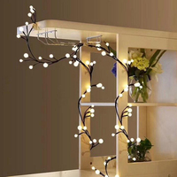 2.5M 72LED Rattan Branch String light Ball decoration Christmas lights garland LED curtain lights Indoor holiday Decoration