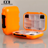 Pocket Waterproof Fishing Tackle Box Hook Bait Flies Case 12 Compartments Insert