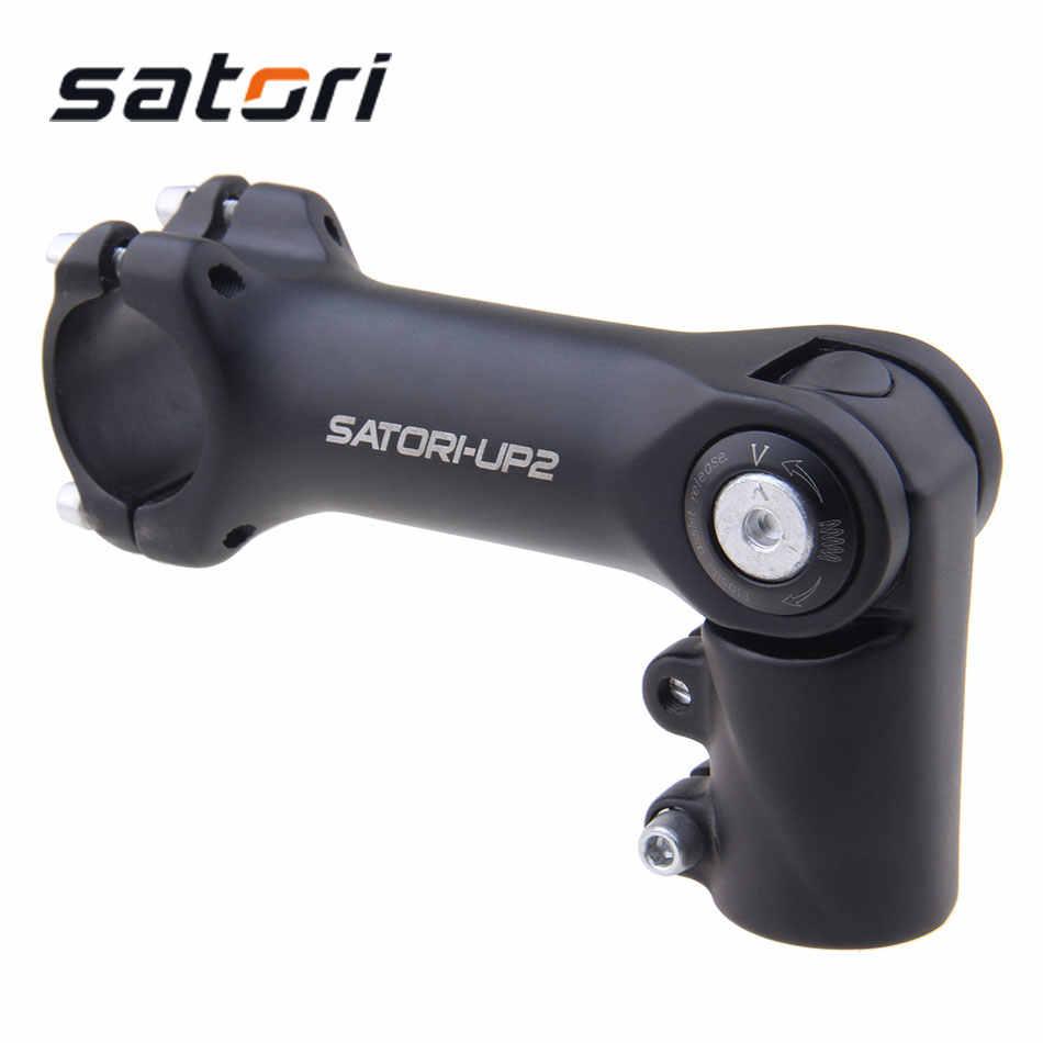 SATORI Bike Stem 31.8mm Adjustable Rise Up Handlebar Stem MTB Road Bike Parts