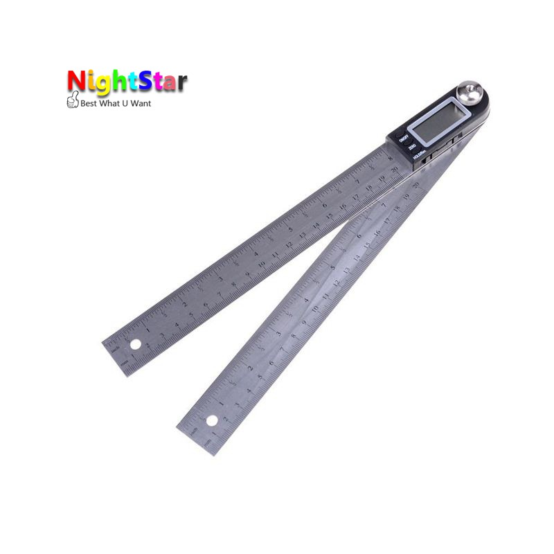 200mm Electronic Angle Meter Gauge Stainless Steel Digital Protractor Inclinometer 20cm Goniometer Level Measuring Tool elecall 200mm digital protractor inclinometer goniometer level measuring tool stainless steel waterproof electronic angle gauge