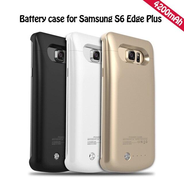 Высокое Качество 4200 мАч Банк Внешней Силы Случае Держатель Платно Батарея Резервного Копирования Стенд Крышка для Samsung S6 Edge Plus