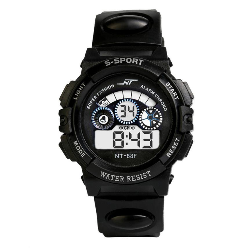 Fashion Waterproof Men's Boy LCD Digital Stopwatch Date Rubber Sport Watch Luminous Wrist Watch Brands Sport