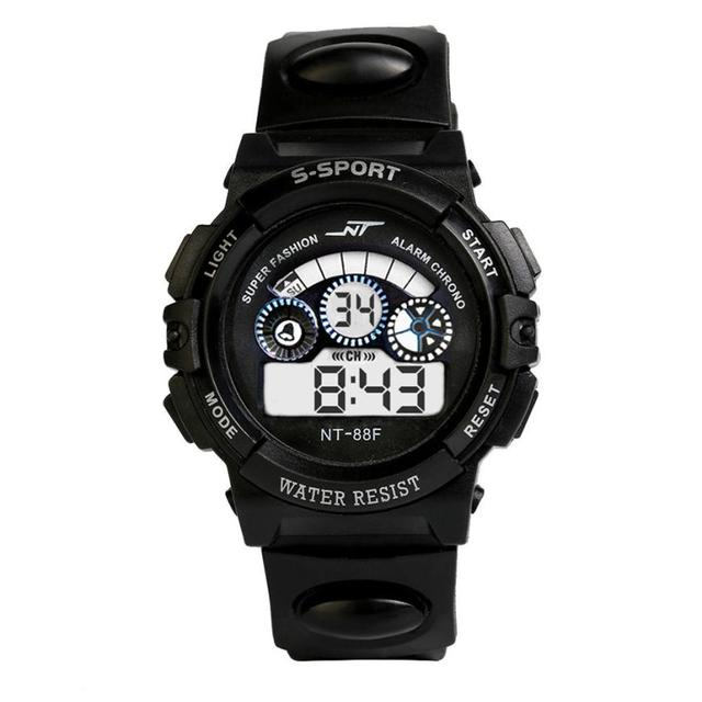 אופנה עמיד למים גברים של ילד LCD דיגיטלי סטופר תאריך גומי ספורט שעון זוהר שעון יד מותגי ספורט