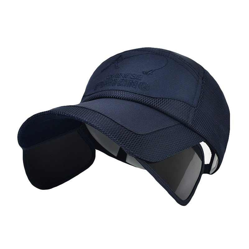 Summer Outdoor Golf Caps Visor Sunscreen Hat Quick-drying Breathable Mesh Casual men women sun protection Running hat