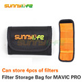 Sunnylife Lens Filter Bag MCUV CPL ND Filters Portable Storage Bag Can Store 4 Filters for DJI MAVIC PRO