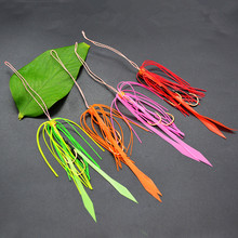 50pcs Silicone Rubber Skirt Rig Assist Hook Replacement for Slider Tai Kabura Jig Bottom Madai Squid Snapper Jigging FishingLure 1pc 50g 1 8oz salty rubber jigs bottom madai jig with rubber hook squid trolling fishing lures snapper jigs