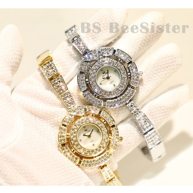 Fashion Dress <font><b>BS</b></font> Quartz <font><b>Watch</b></font> Women <font><b>Watches</b></font> Luxury Rhinestone Ladies <font><b>Watch</b></font> Female Clock women saat relogio feminino reloj mujer image