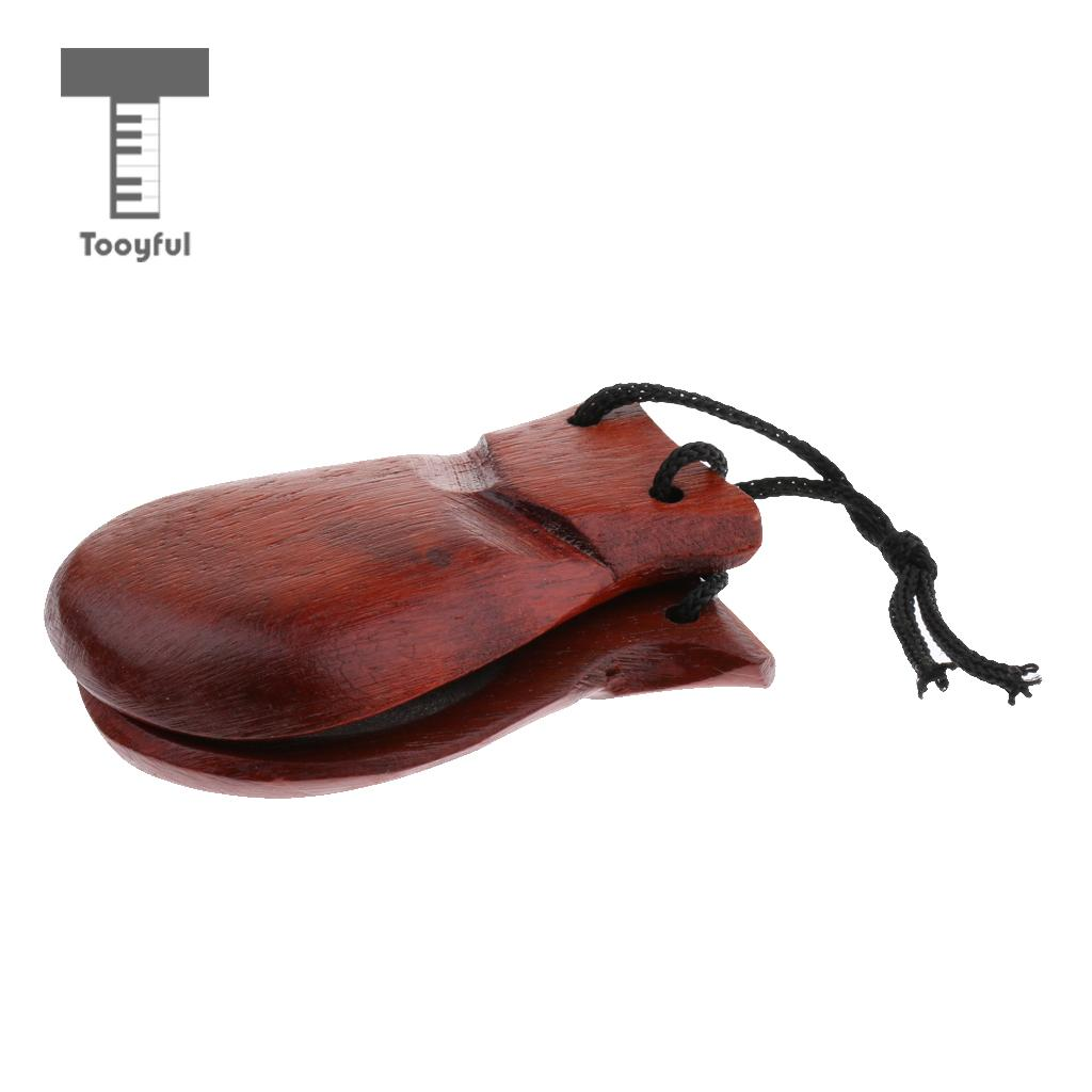 Tooyful Exquisite Wood Hand Clapper Castanets for Kids Preschool Early Learning Toy Birthday Gift