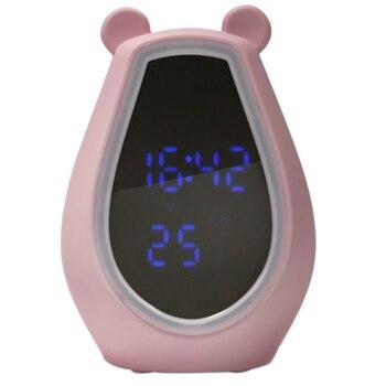 Alarme numérique LED horloge veilleuse dessin animé miroir horloge multi-fonction montre enfant réveil décoration de la maison cadeaux de noël