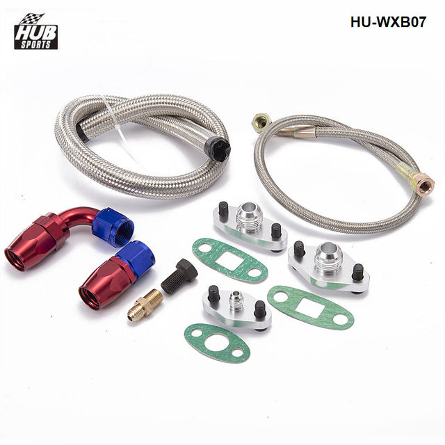 Kit de línea de retorno/alimentación de drenaje de aceite para Toyota 1JZGTE 2JZGTE 1JZ 2JZ solo Turbo HU-WXB07