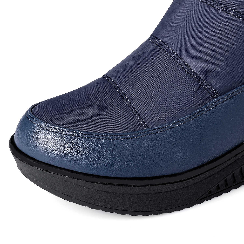 QZYERAI Winter warm om knie snowboots veer licht en warm geschikt voor-35 graden casual waterdichte vrouwelijke laarzen