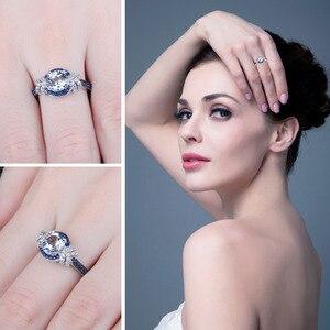 Image 4 - Jewelrypalace Echt Blauw Spinel Topaz Ring 925 Sterling Zilveren Ringen Voor Vrouwen Engagement Ring Zilver 925 Edelstenen Sieraden