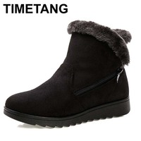 Women Ankle Boots For Rabbit Fur New Fashion Waterproof Wedge Platform Winter Warm Snow Boots Shoes