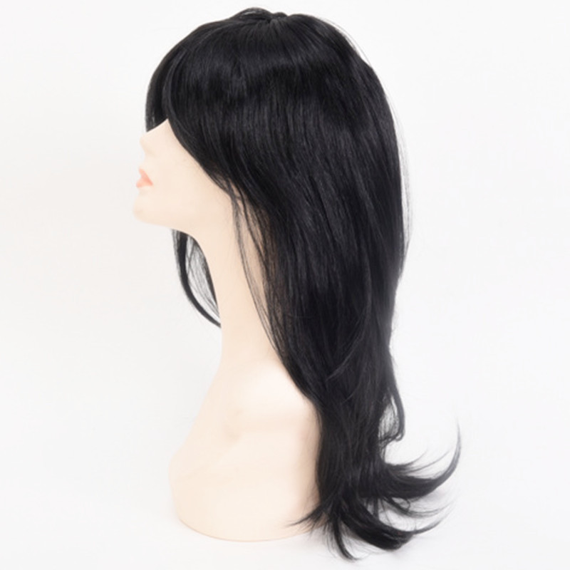 Women Long Black Straight middle part hairstyle set cosplay Peluca headwear for Girls Carnival Purim Nightclub bar party Costume